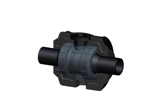 COOLFIT 2.0 Kugelhahn Typ 546 PVC-U freies Wellenende