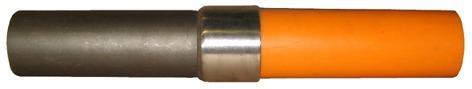 Übergangsstück PE/Stahl Typ PESVS mit Schrumpfschlauch