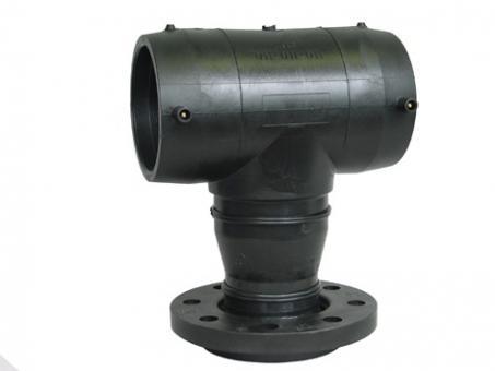 PE-MMA-Stück, Elektroschweiß-T-Stück mit Flanschabgang PE 100, SDR 11 (ISO S5)